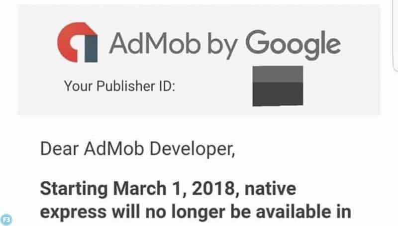 Native Express ads will stop working