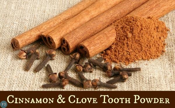 Homemade tooth powder