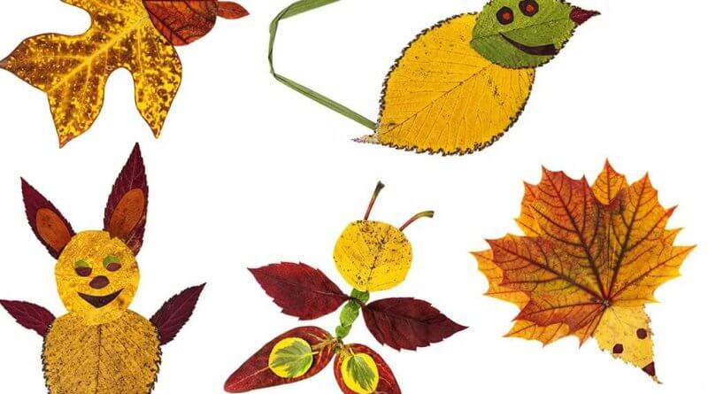 Leaf art for kids