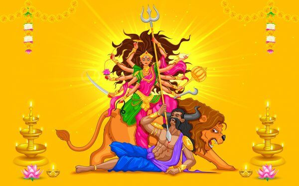 This image has an empty alt attribute; its file name is depositphotos_31748297-stock-illustration-happy-dussehra-with-goddess-durga.jpg